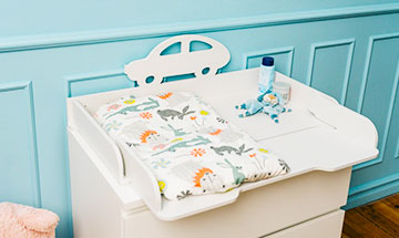plastic changing table