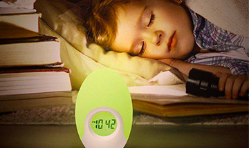 kids night light alarm clock